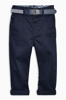 Navy Belted Chinos (3mths-6yrs)