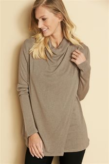 Neutral Knit Look Nursing Top