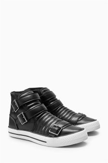 Black Buckle High Tops