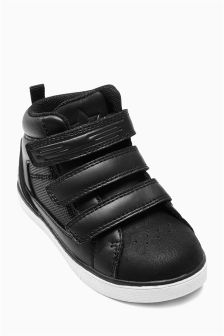 Triple Strap Hi Top Trainers (Younger Boys)