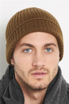 Camel Knitted Beanie