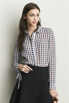 Monochrome Soft Gingham Shirt