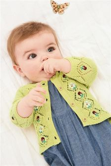 Citrine Embroidered Cardigan (0mths-2yrs)