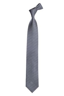 Blue/Navy Silk Patterned Tie