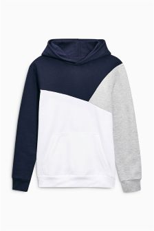 Navy Cut And Sew Hoody