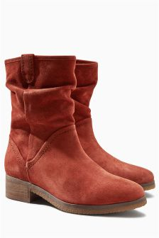 Ginger Suede Slouch Boots
