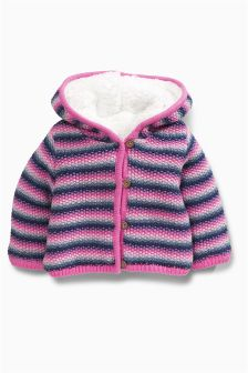 Multi Coloured Stripe Hooded Cardigan (0mths-2yrs)