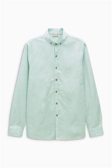 Green Long Sleeve Oxford Shirt (3-16yrs)