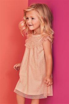 Pink Yoke Party Dress (3mths-6yrs)