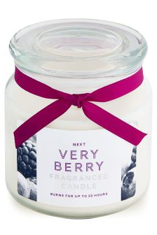 Very Berry Fragranced Glass Jar Candle