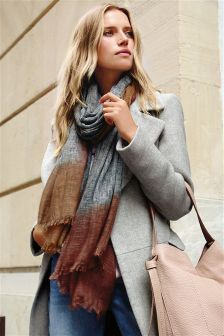 Grey Ombre Tip Scarf