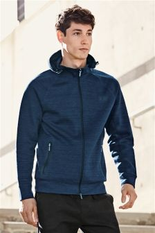 Blue Tech Zip Through Hoody