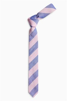 Blue/Pink Stripe Tie (Older Boys)