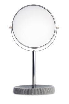 Textured Grey Resin Vanity Mirror