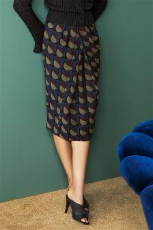Multi Jacquard Tulip Skirt