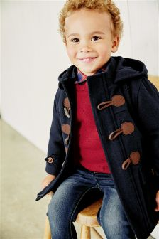 Navy Duffle Coat (3mths-6yrs)