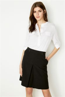 Black Workwear Skirt