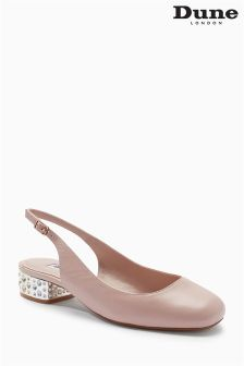 Dune Nude Leather Round Toe Shoe