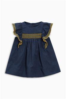 Navy Smock Dress (0mths-2yrs)