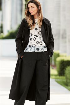 Black Oversized Trench Jacket