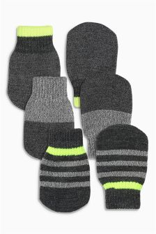 Grey Mittens Three Pack (Younger Boys)