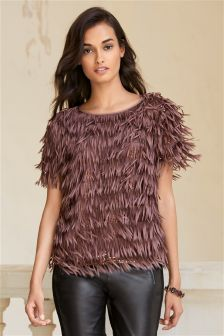 Berry Fringe Top