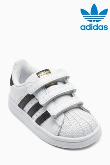White/Black adidas Superstar Velcro