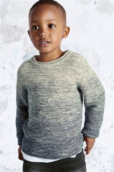 Grey Ombre Crew Neck Jumper (3mths-6yrs)