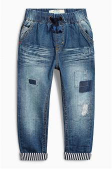 Blue Lined Patch Jeans (3mths-6yrs)