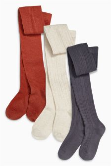 Neutral Tights Three Pack (3-16yrs)
