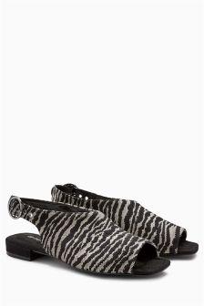 Peep Toe Buckle Sandals