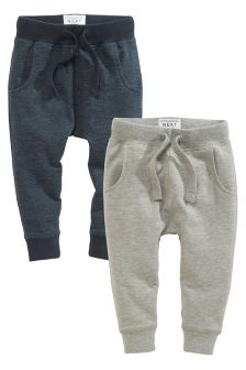 Navy/Grey Super Skinny Textured Joggers Two Pack (3mths-6yrs)