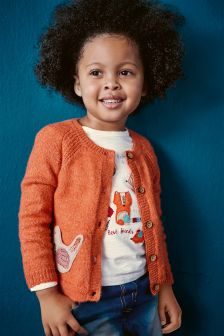 Orange Character Pocket Cardigan (3mths-6yrs)