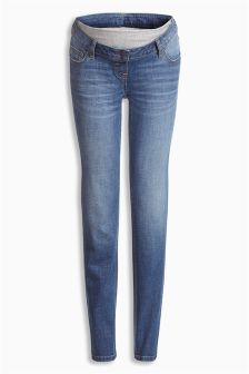 Dark Blue Authentic Slim Maternity Jeans