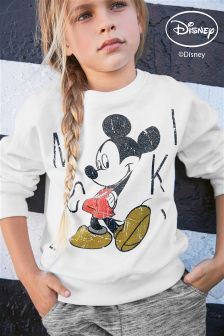Ecru Mickey Mouse™ Crew Neck Top (3-16yrs)