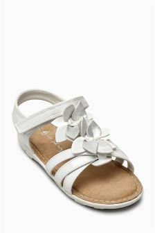 Patent Flower Sandals (Younger Girls)