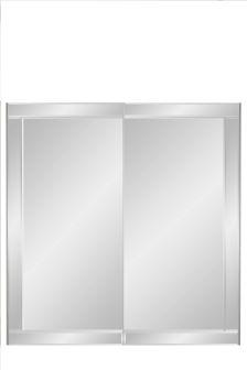 1.5M Bevelled Mirror Sliding Door