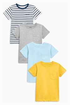 Yellow/Blue/Grey T-Shirts Four Pack (3mths-6yrs)