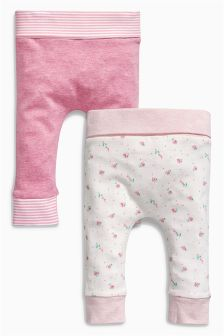 Pink Leggings Two Pack (0mths-2yrs)