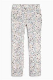 Pretty Printed Skinny Trousers (3mths-6yrs)