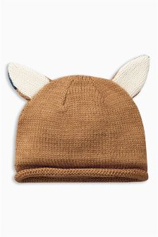 Ginger Knitted Fox Hat (0mths-2yrs)