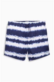 Navy Tie Dye Swim Shorts