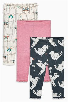 Multi Leggings Three Pack (0mths-2yrs)