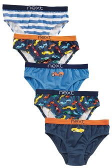 Multi Cars Briefs Five Pack (1.5-8yrs)