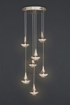 Sloane Glass 7 light Cluster
