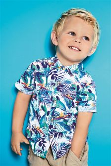 Tropical Print Short Sleeve Shirt (3mths-6yrs)