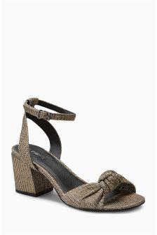 Shimmer Low Block Sandals