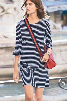 Frill Sleeve Stripe Dress