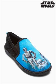 Blue Star Wars™ Slippers (Older Boys)