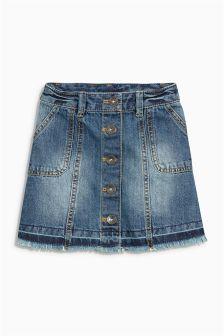 Button Through Skirt (3-16yrs)